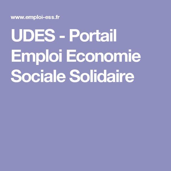 UDES - Portail Emploi Economie Sociale Solidaire