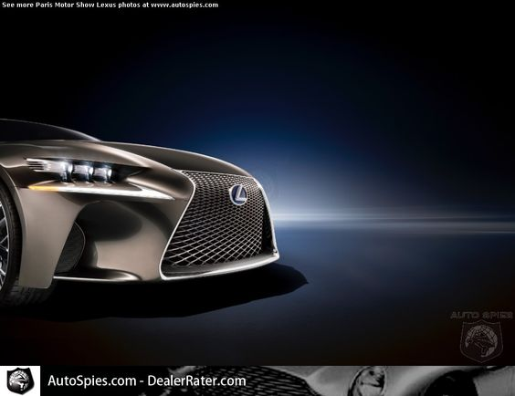 PARIS MOTOR SHOW-If The Next Lexus IS Looks Like THIS, Do They FINALLY Have The BMW 3-Series BEATER? - AutoSpies Auto News