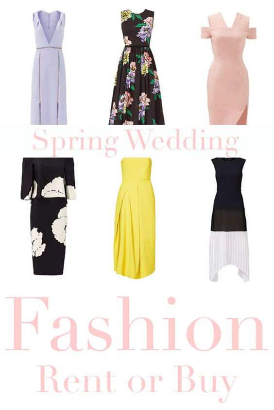 What to wear to that spring wedding? Affordable, stylish finds to either rent or buy!