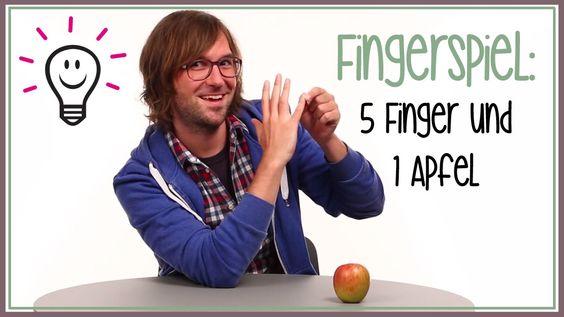 Fingerspiele: Fünf Finger und ein Apfel (Kinderreime)
