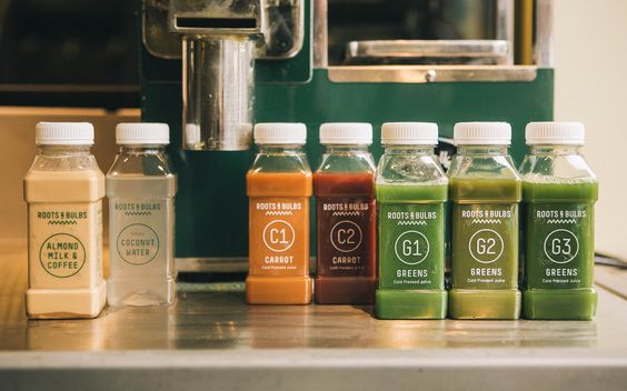 Roots & Bulbs cold pressed juice & smoothie bar | Creative Agency, Branding & Packaging Design | Leeds