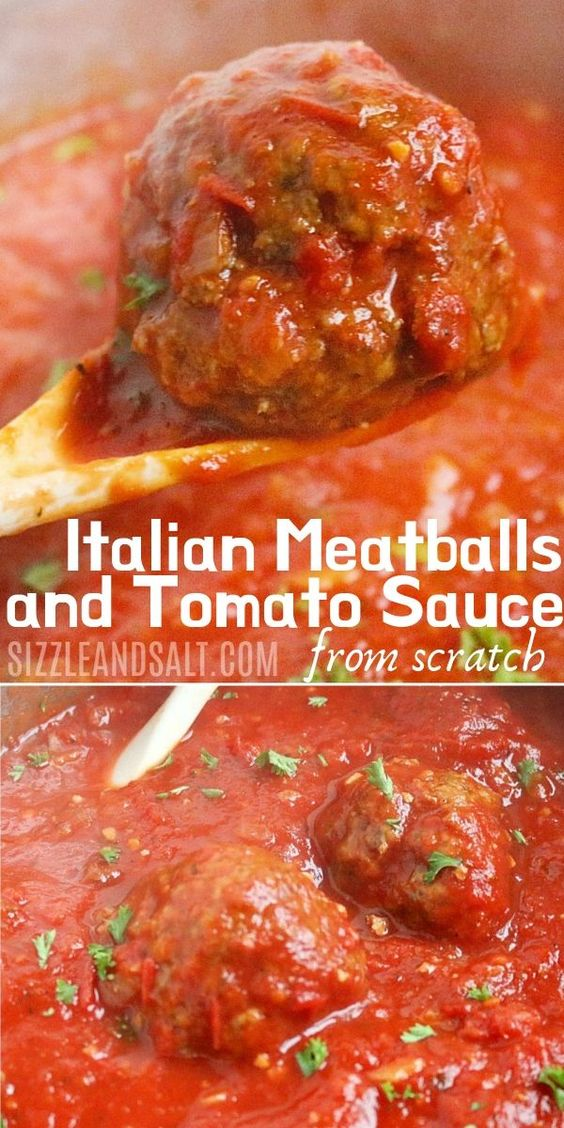 Traditional Italian Meatballs & Sauce