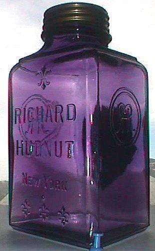 antique purple glass jar
