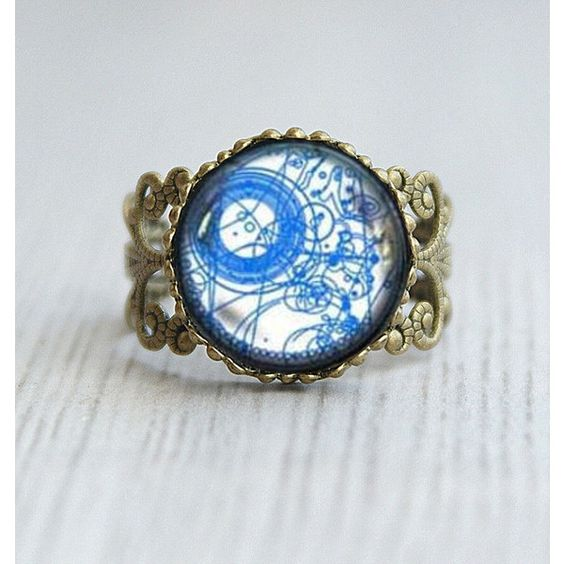 Doctor Who ring, Doctor Who Adjustable Ring, Dr Who masters fob ring,... ($4.99) ❤ liked on Polyvore featuring jewelry, rings, doctorwho, adjustable rings and enhancer ring