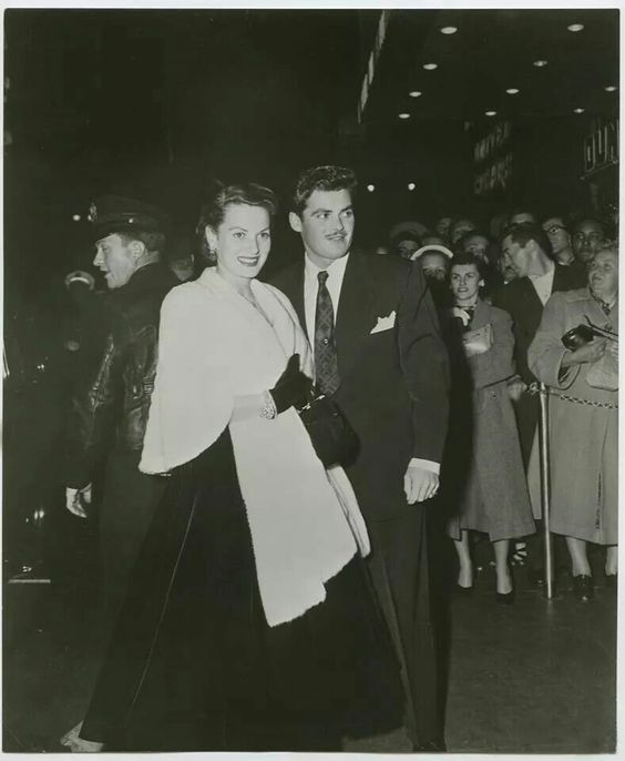 With brother at a premier in the 50's
