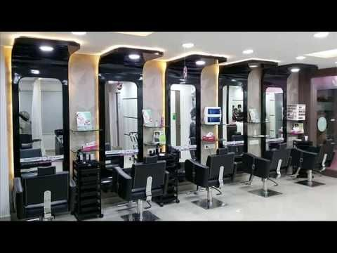 Top10 Beauty Parlour In Hyderabad Youtube Barbershop Design Salon Interior Design Beauty Salon Design