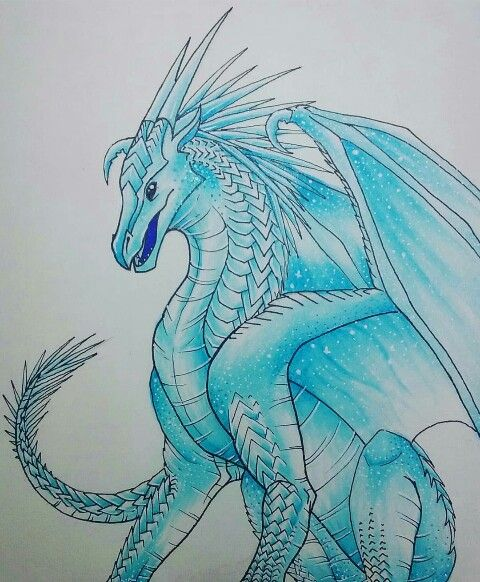 Icewing By Me Audrey With Images Wings Of Fire Dragons Wings