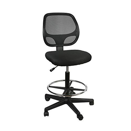 Drafting Chairs Office Chair Swivel Chair With Foot Rest Mesh Back