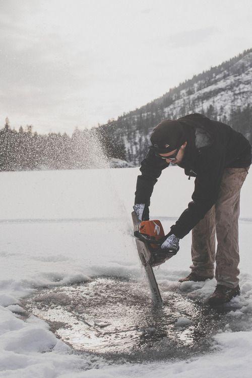 Myninjasuit last chance to go ice fishing poler for Go ice fish