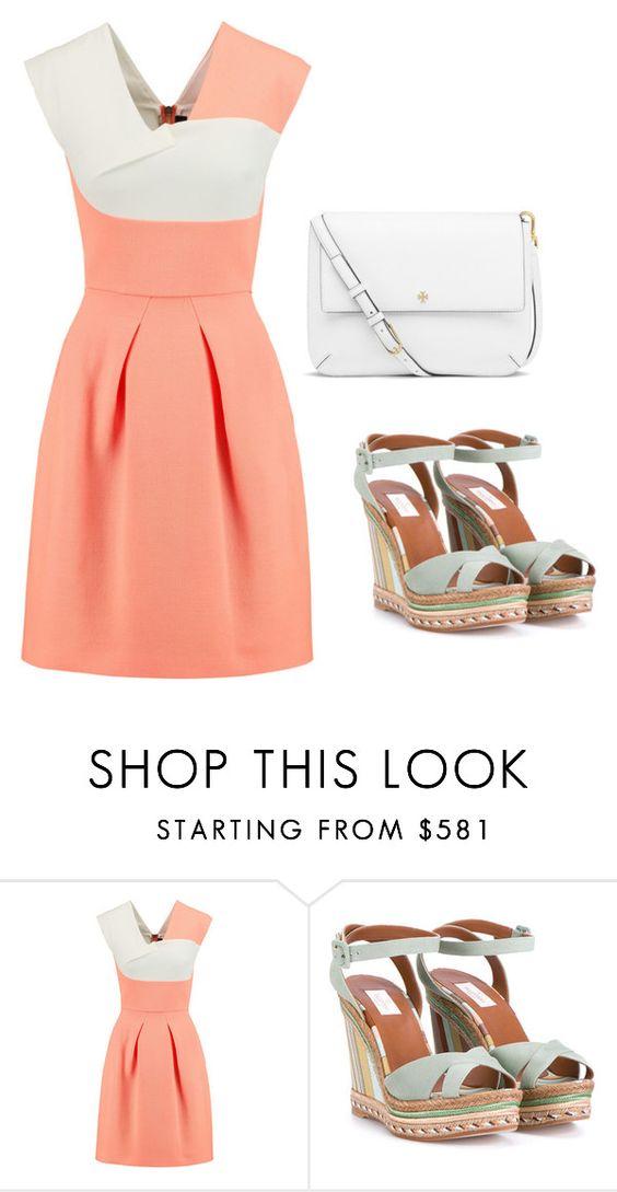 """Girly and Chic"" by ella178 ❤ liked on Polyvore featuring Roland Mouret, Valentino and Tory Burch"
