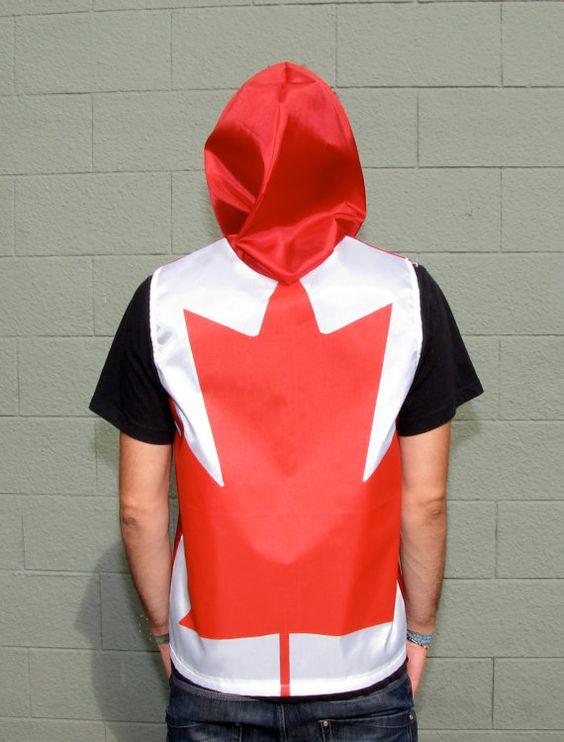 Canadian Flag Hoodie - Canada - handmade mens hoodie - zippered