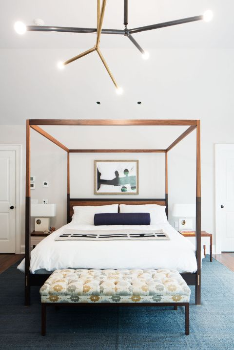 Simple and chic design by Dosk interiors for a bright and modern bedroom.
