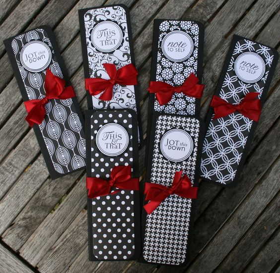 """black, red and white omised notepad as wedding favours with """"This and That"""" and """"Jot this Down"""" Caption for cover-Function Mania-Unique Wedding Favours Your Guests Will Definitely Love!"""