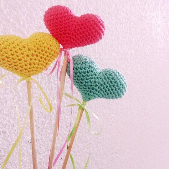 Corazones crochet por Bebés Crochet