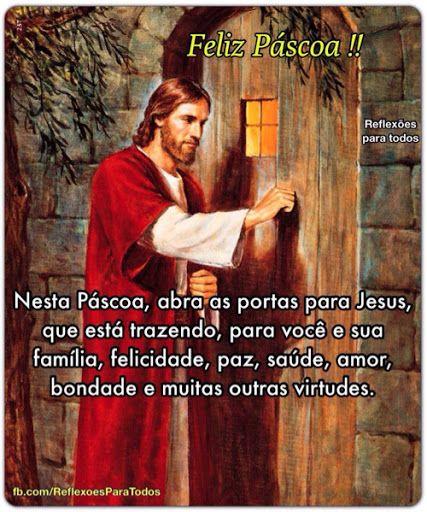 Feliz Páscoa, Mensagem de reflexao.: