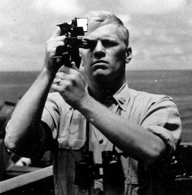 Lieutenant (later Lieutenant Commander & POTUS) Gerald R. Ford, during his assignment to the USS Monterey,