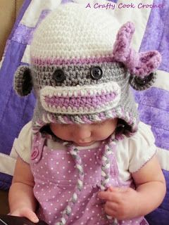 A Crafty Cook: Stash-Buster Challenge - Sock Monkey Hats