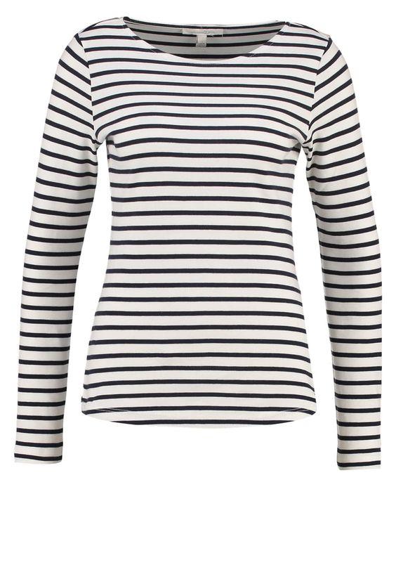 TOM TAILOR DENIM Langarmshirt off white Bekleidung bei Zalando.de   Material Oberstoff: 100% Baumwolle   Bekleidung jetzt versandkostenfrei bei Zalando.de bestellen!