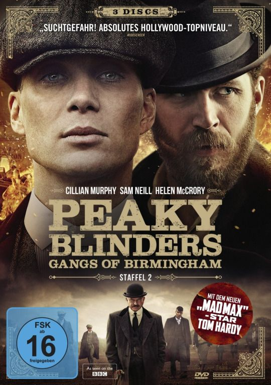 Tom Hardy and Cillian Murphy on the German S2 DVD set, available 25 June
