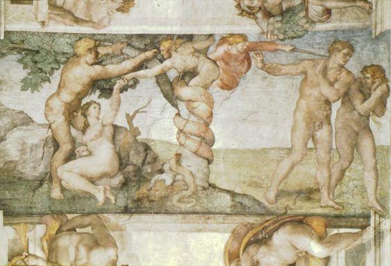Capilla Sixtina: La tentación y la expulsión, 1508-1512 - Miguel Ángel
