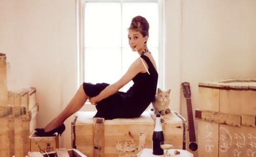 Holly Golightly and Cat