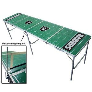 8ft Oakland Raiders NFL Tailgate Table (Misc.)