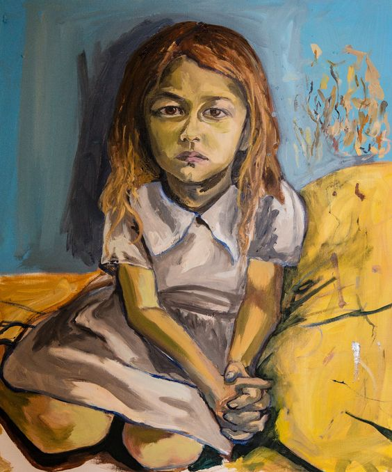 Sasha, the daughter of a friend of Jemima Kirke's  | Jemima Kirke's Paintings of Girls.  Her portraits remind me of those of Balthus, without the prurience.