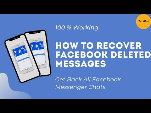 How To Get Back A Deleted Conversation On Facebook