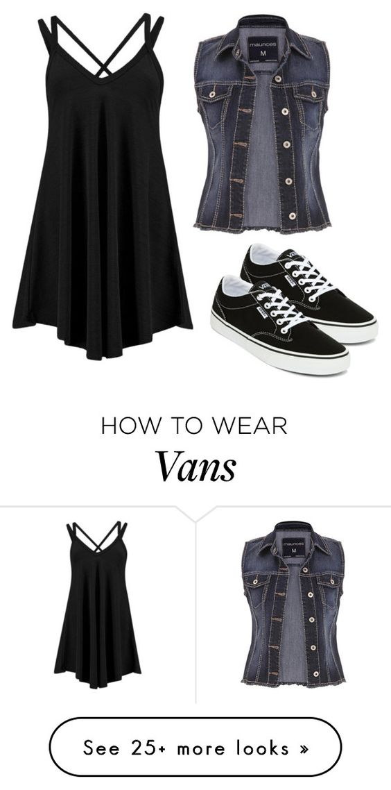 """""""Basic Black"""" by jjwahlberg on Polyvore featuring maurices and Vans"""