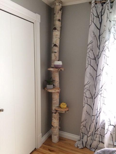 Tronc De Bouleau Et Tranches De Bouleau Pour Les Tablettes Facile Et Pas Cher Wood Projects Decor Home Decor