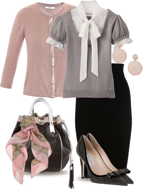"""Vintagey for Office"" by yasminasdream on Polyvore"