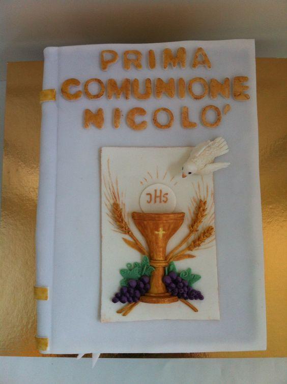 Torta Libro - Bibbia - Prima Comunione - le dolci creazioni di Camilla Jesholt Buffatti