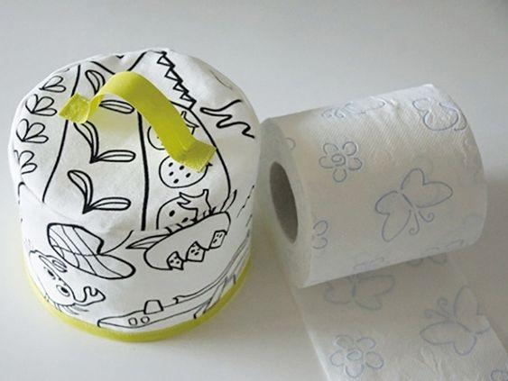 Tutoriale DIY: Cómo hacer una funda para el rollo de papel higiénico  vía DaWanda.com