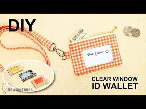 Diy Clear Window Id Wallet How To Make Vinyl Window Card Holder Sewingtimes Youtube Card Wallet Diy Id Wallet Window Cards