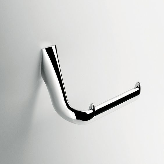 D rouleur de papier toilette minimaliste en inox pour un - Fabriquer un derouleur de papier toilette ...