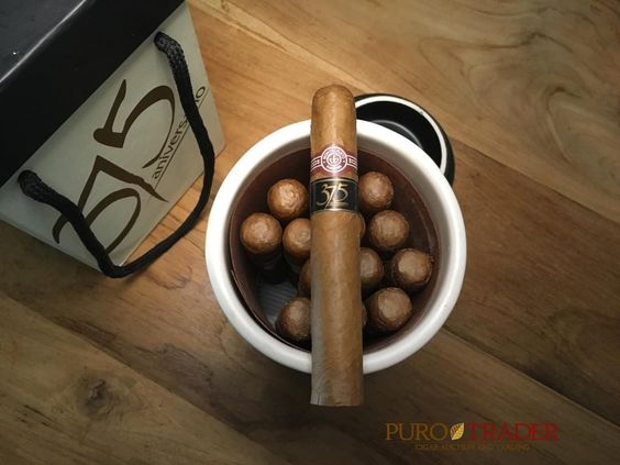 Montecristo Edmundo 375 Aniversario ceramic jar. Collecting jars is the best way to begin your collection. Modern jars tend to be reasonably priced and command a strong following. They tend to appreciate better over time then standard boxes of cigars.