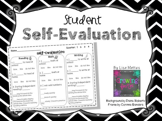 Self-Evaluation Freebie - self evaluation