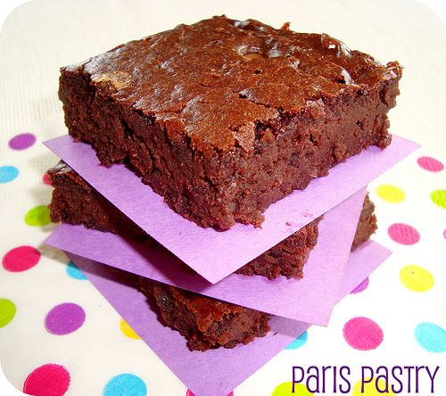Flourless brownies, made with black beans. Made them tonight out of curiosity...not bad...interesting texture.