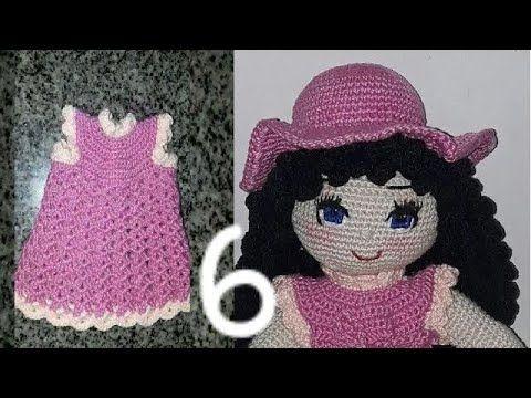 Boneca Vestido Azul no Elo7 | Crochê Arte by Tânia Frigo (DE5E9D) | 360x480