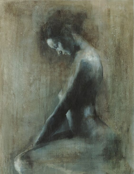 """Saatchi Online Artist: Patrick Palmer; Acrylic, 2010, Painting """"""""Looking down"""""""""""