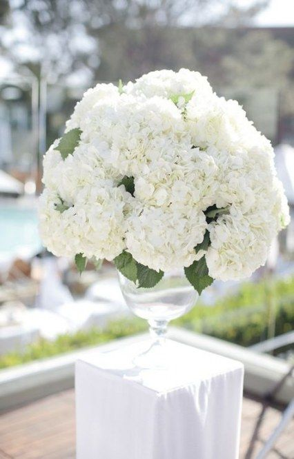 34+ trendy wedding flowers white centerpieces hydrangeas #wedding #flowers