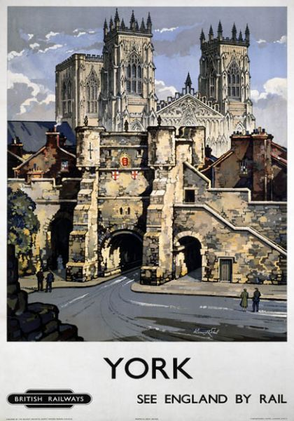 York rail travel poster from 1948.