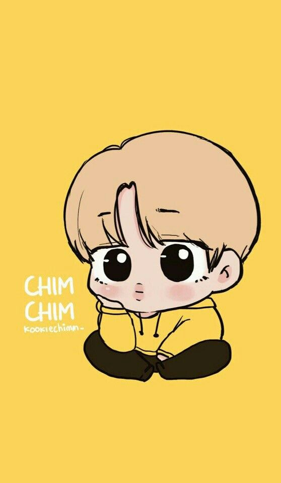 Chim Chim You Are So Cute Jimin Ilustrasi Karakter