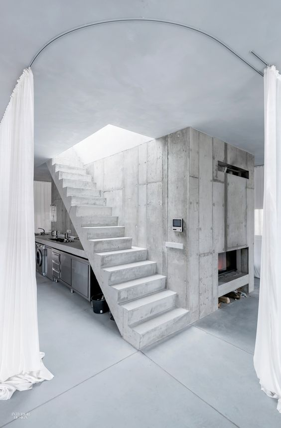 3 Houses Are Sculptures In Their Own Right | Interior Stairs, Small Studio  And House