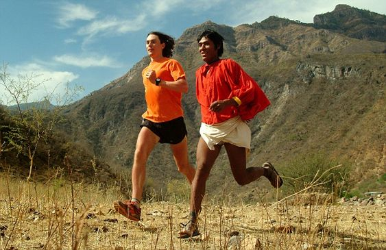 Running inspiration: Tarahumara Indian tribe lives deep within the Mexican desert. They are the ultimate runners, they can run for miles and miles in leather sandals in rough terrain.