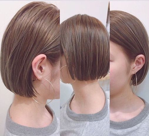 Michikoisonoさんはinstagramを利用しています 久々のカラー グレージュ 脱金髪 さらに短く Lewinxiaochi ありがとうございました 安達祐実さん風に カットラインとピアスのバランスが好き 髪色 グラデーション ヘアスタイル 黒髪