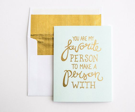 Gold Foil Press - Mother's or Father's Day Card - Hand Lettered Greeting Card