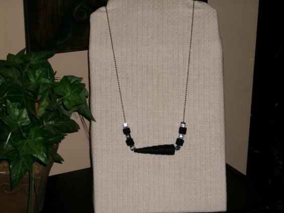 Sale Black Denim Necklace by 1View on Etsy, $7.99