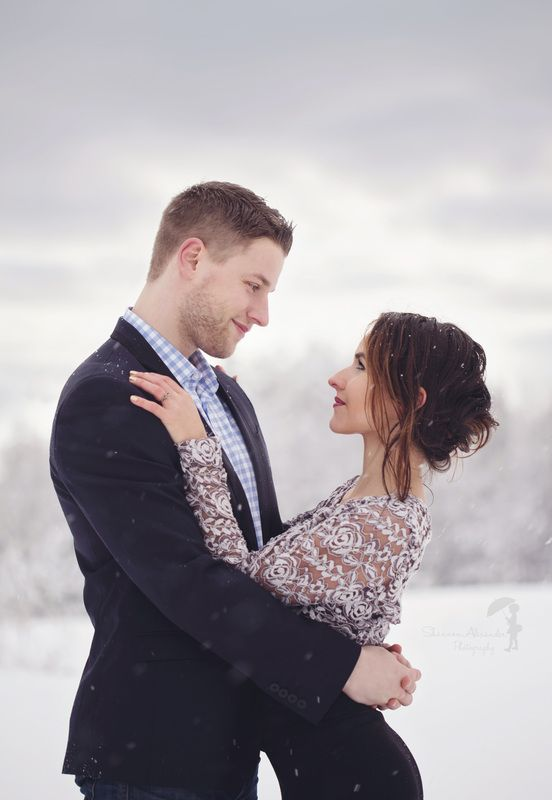 Winter engagement shoot, snow, Vermont, Vermont photographer, Shannon Alexander Photographer
