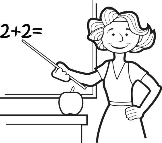 teacher coloring printables education pinterest